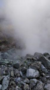 雲仙温泉の湯煙