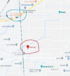 車塚古墳地図
