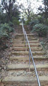 石人山古墳階段