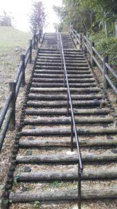 弘化谷古墳階段