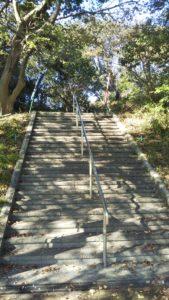6号墳への階段