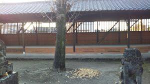 玉垂命神社周囲板