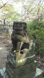 上津本山天満宮狛犬小