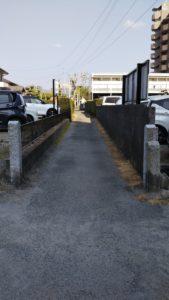 久留米諏訪神社歩道