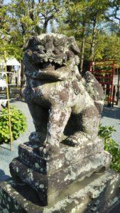 久留米諏訪神社狛犬1