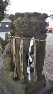 国分日吉神社狛犬左
