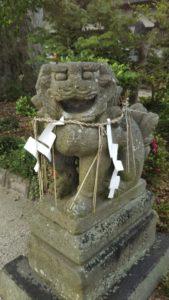 国分日吉神社狛犬玉無し