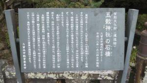 五穀神社石橋解説