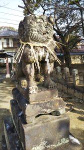 西町日吉神社狛犬左