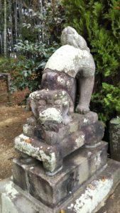 久留米熊野神社狛犬右