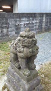 小頭神社狛犬左